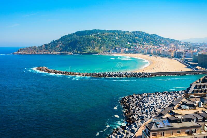 Панорамный вид San Sebastian воздушный стоковые фотографии rf