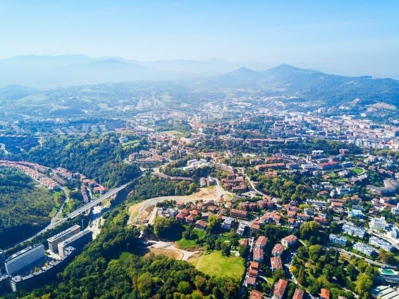 Панорамный вид San Sebastian воздушный стоковые изображения