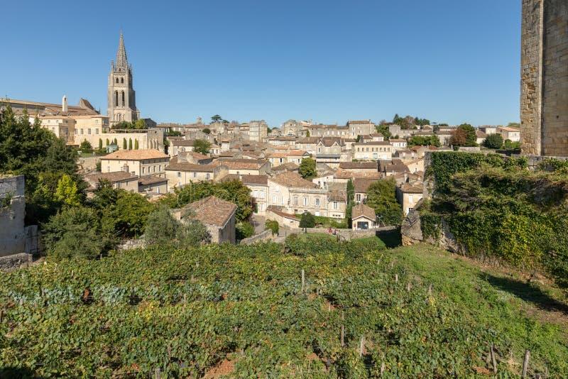 Панорамный вид St Emilion, Франции стоковые изображения
