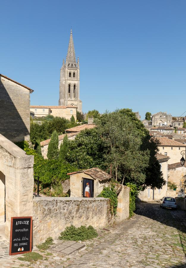 Панорамный вид St Emilion, Франции стоковое изображение rf