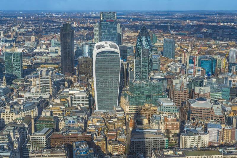 Панорамный вид с воздуха Лондона стоковые изображения