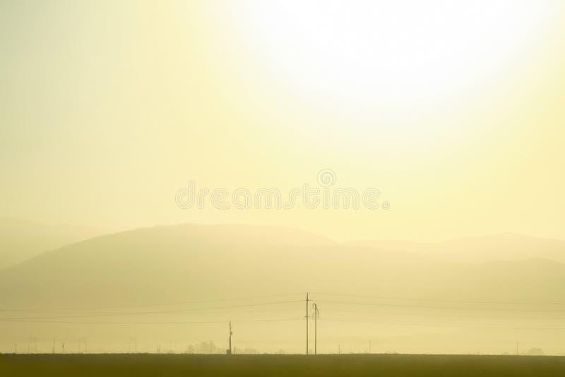Панорамный восхода солнца в Калифорнии, Соединенных Штатах стоковое фото
