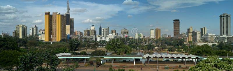 Панорамный горизонт Найроби стоковое фото