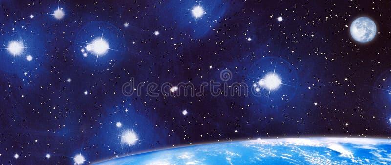 Панорамный космос Стоковое фото RF