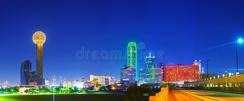 Панорамный обзор городского Далласа стоковые изображения
