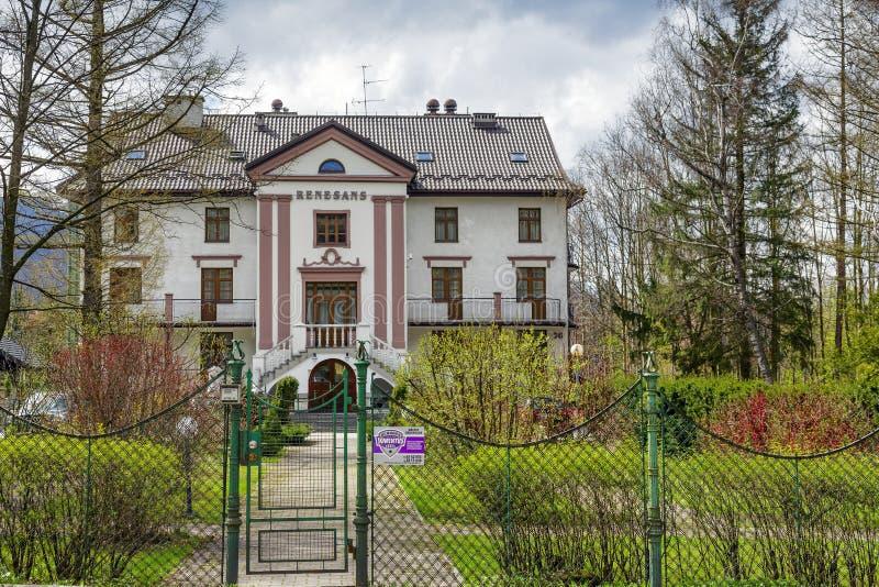 Пансион Renesans в Zakopane стоковые фотографии rf
