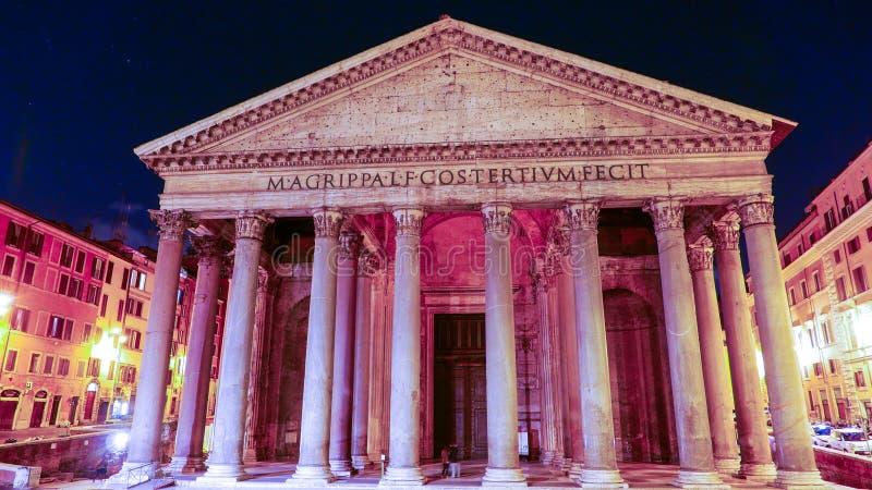 Download Пантеон в Риме - известном ориентир ориентире в историческом районе Стоковое Фото - изображение насчитывающей vatican, европа: 81807554