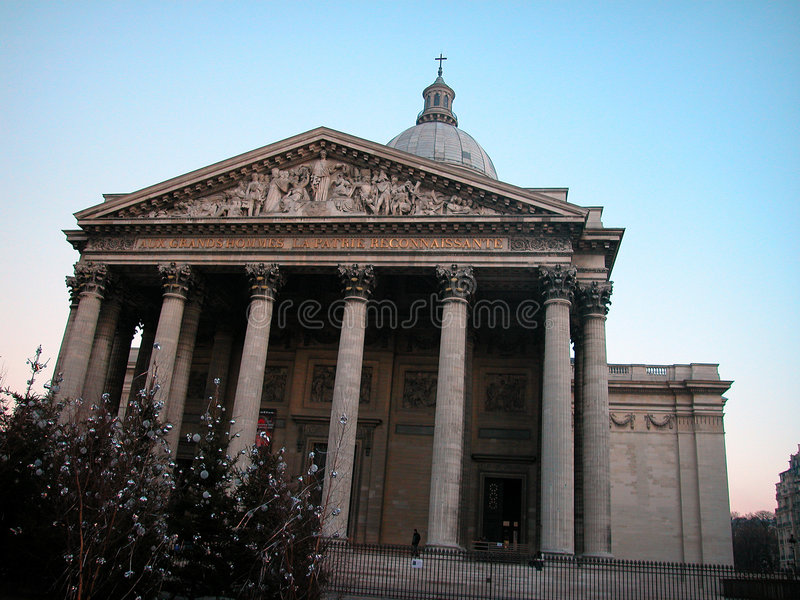 пантеон paris стоковое изображение rf