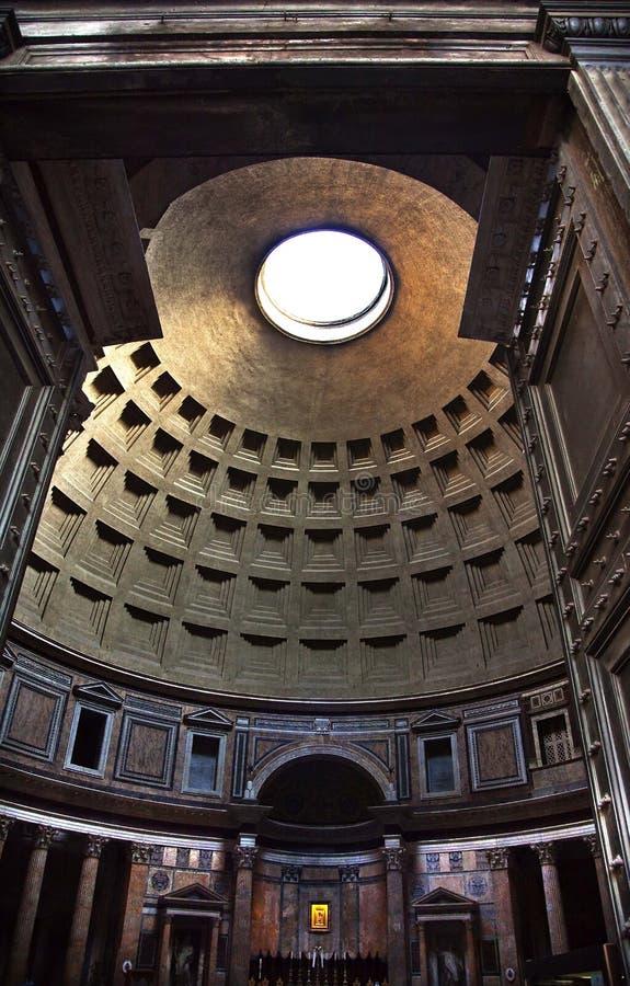 пантеон rome oculus Италии куполка потолка алтара стоковая фотография rf