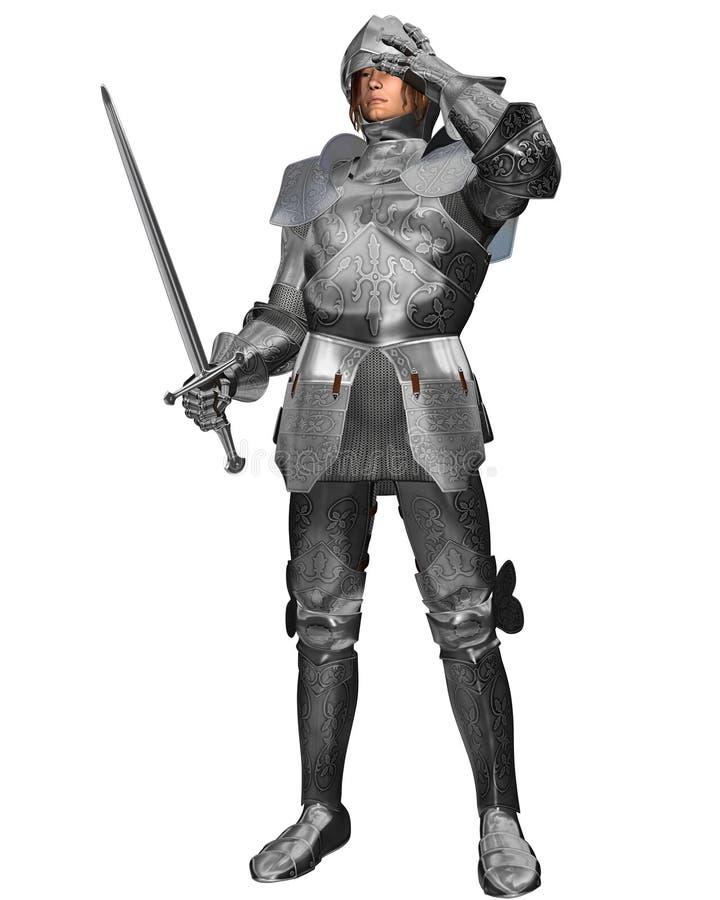 панцырь украсил рыцаря средневековый иллюстрация штока