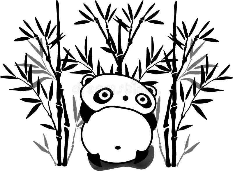 Панда в бамбуковом лесе стоковая фотография rf