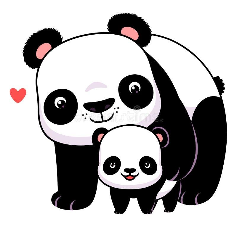Панда и новичок иллюстрация вектора