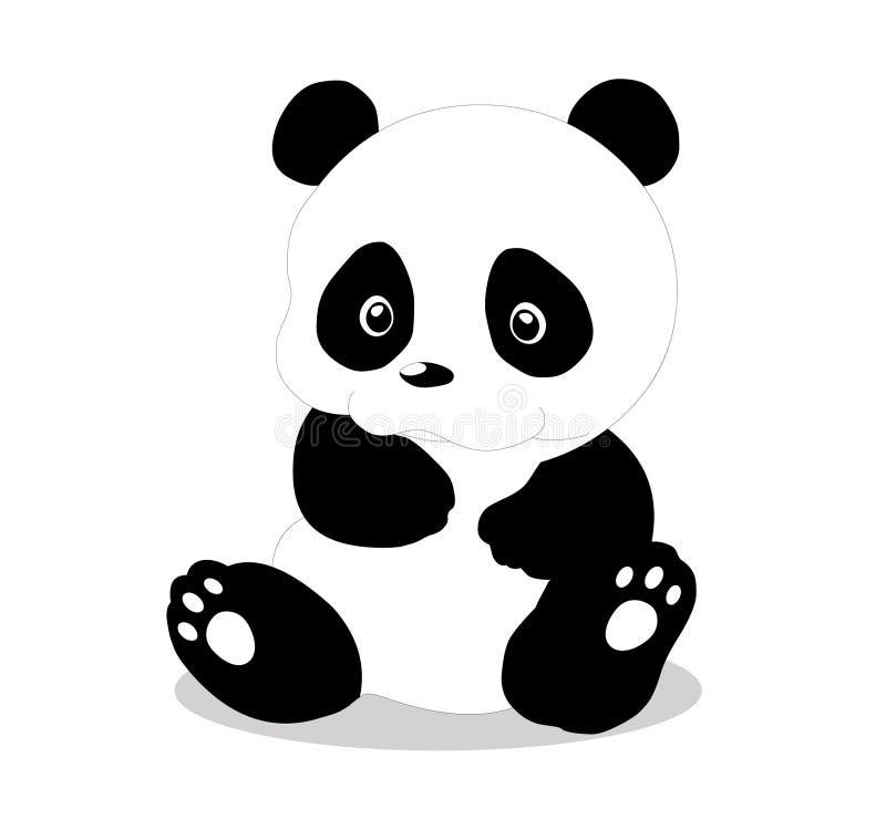 Панда настолько милая бесплатная иллюстрация