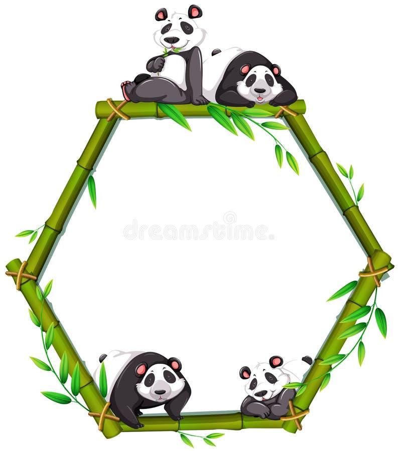 Панда иллюстрация штока