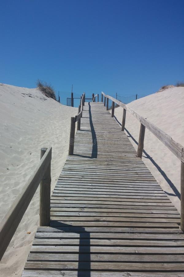 пандус пляжа к стоковое фото rf