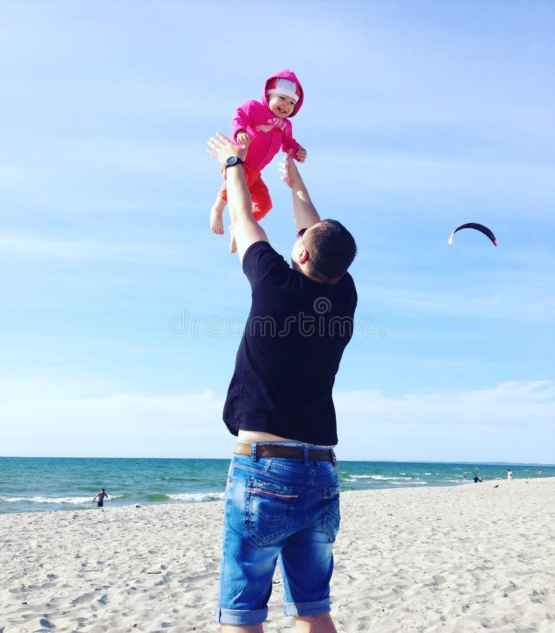 Папа и дочь стоковое фото
