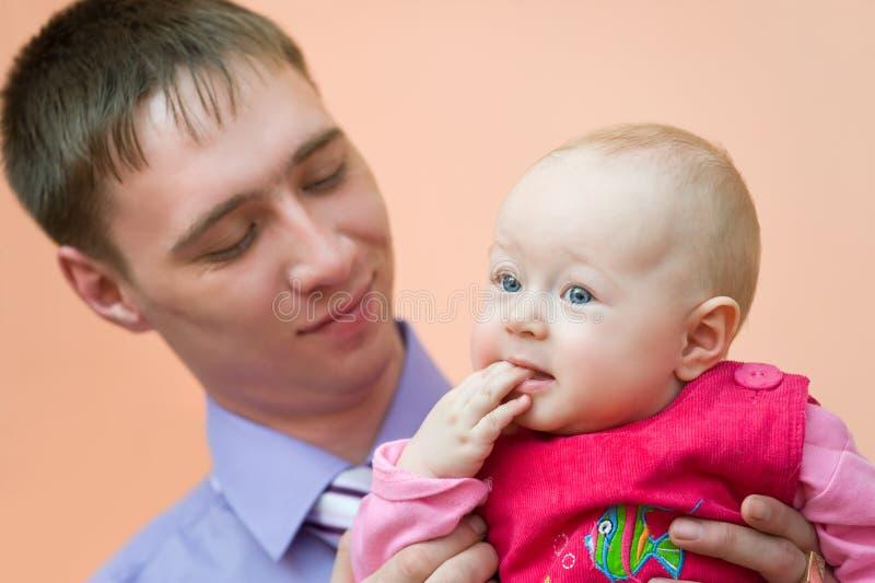 папа младенца его стоковые изображения rf