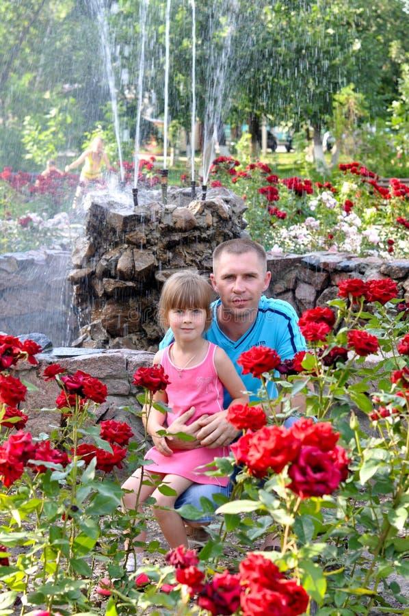 Папа с дочерью стоковое фото rf