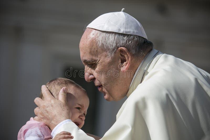 Папа Фрэнсис стоковая фотография rf