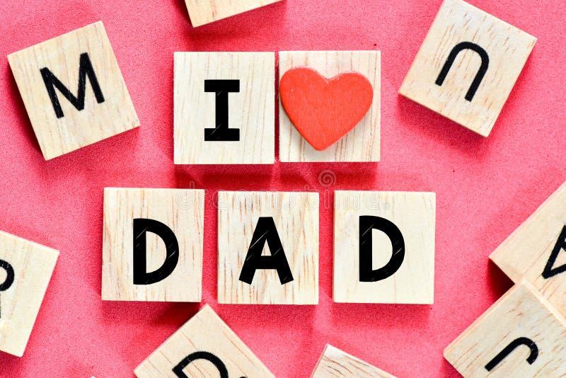 папа я тебя люблю стоковые фотографии rf