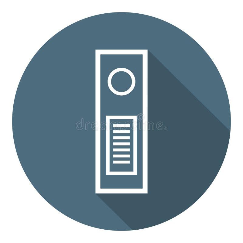 Папка для документов Значок плана плоский Предохранение от файла, безопасность данных, безопасная конфиденциальная информация r иллюстрация вектора