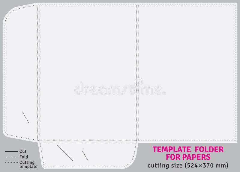 Папка картона шаблона для бумаг бесплатная иллюстрация