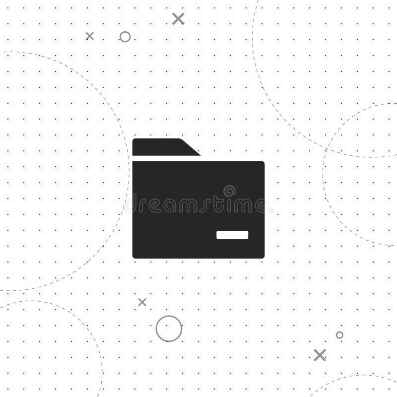 Папка, организация, значок вектора самый лучший плоский иллюстрация штока