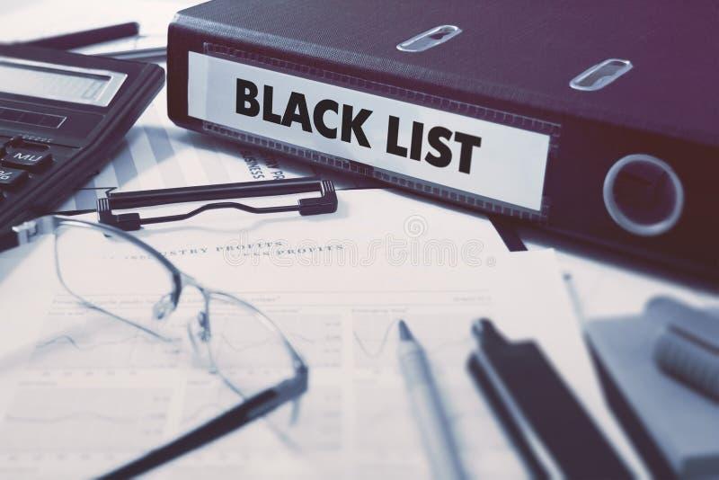 Папка офиса с списком черноты надписи стоковое фото rf