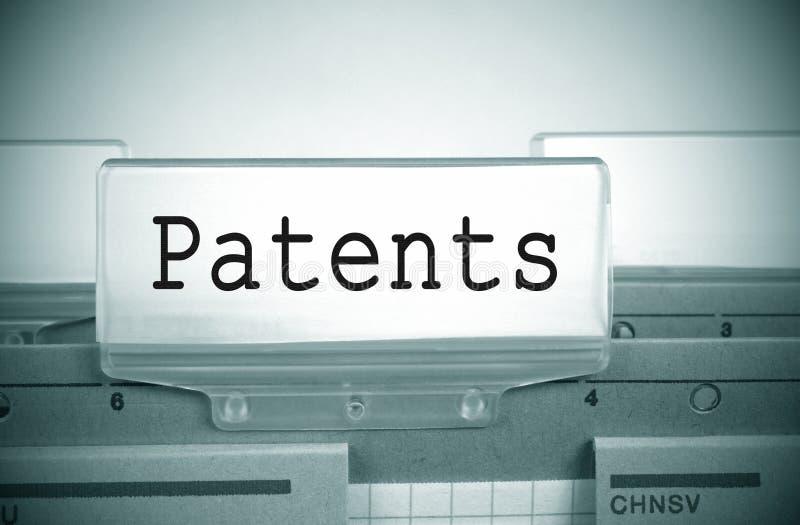 Папка регистра патентов стоковые изображения rf