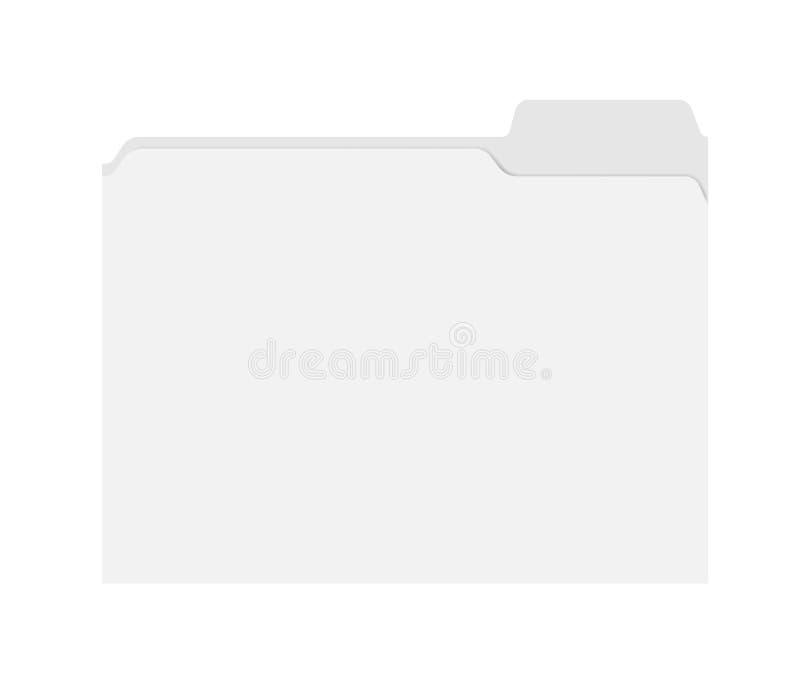 Папка файла при отрезанная плата изолированная на белой предпосылке, шаблоне иллюстрация штока