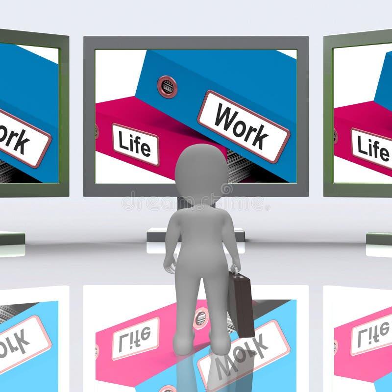 Папки работы всей жизни значат баланс перевода карьеры 3d бесплатная иллюстрация