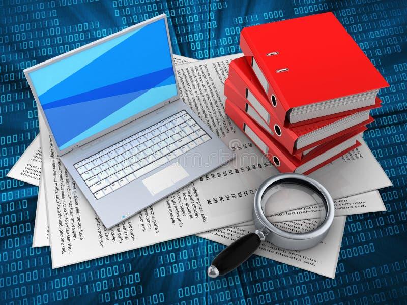 папки связывателя 3d иллюстрация вектора