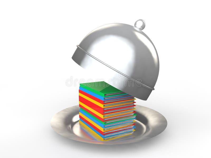 папки файла 3d в концепции рабочей нагрузки диска сервировки иллюстрация вектора