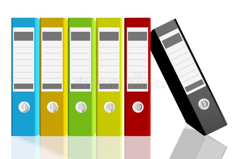 Папки для документов, изображений 3D иллюстрация вектора