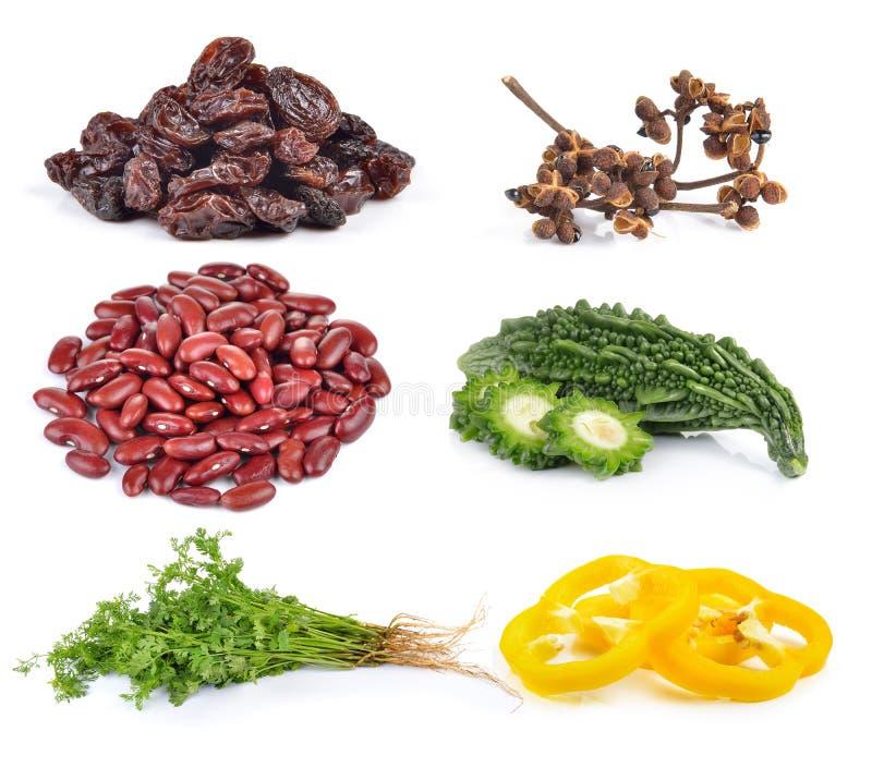 Паприка, кориандр, горькая дыня, красные фасоли, Zanthozylum, изюминка стоковое изображение