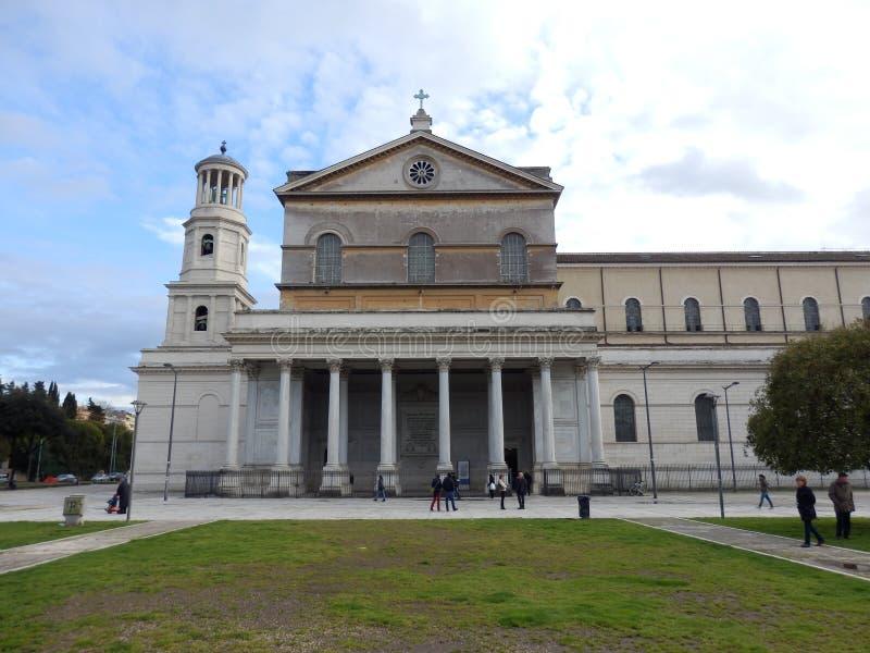 Папская базилика St Paul вне стен в Риме стоковое изображение rf