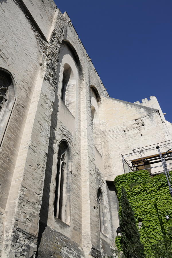 Папский дворец в Авиньоне, Франции стоковые фотографии rf