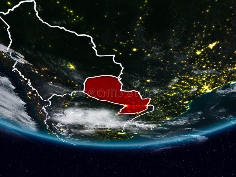 Парагвай во время ночи стоковые изображения