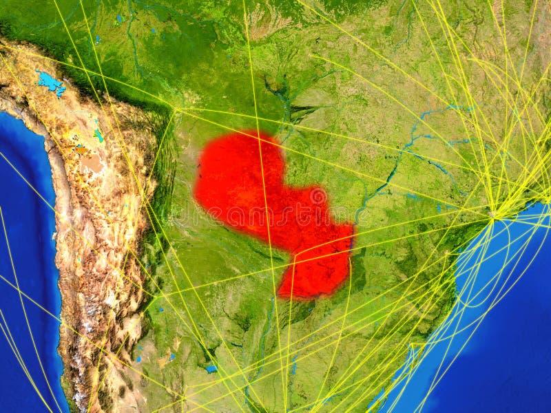 Парагвай на земле с сетью стоковая фотография rf