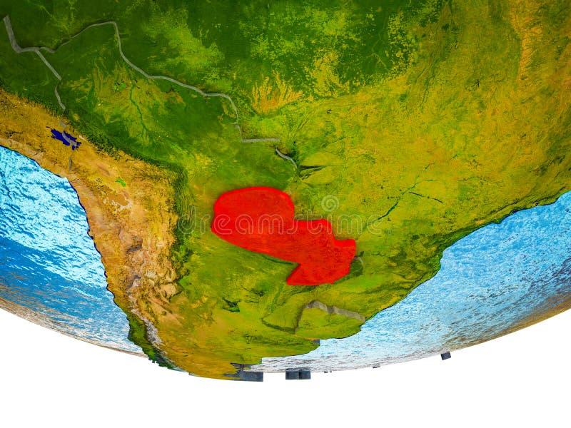 Парагвай на земле 3D стоковая фотография rf