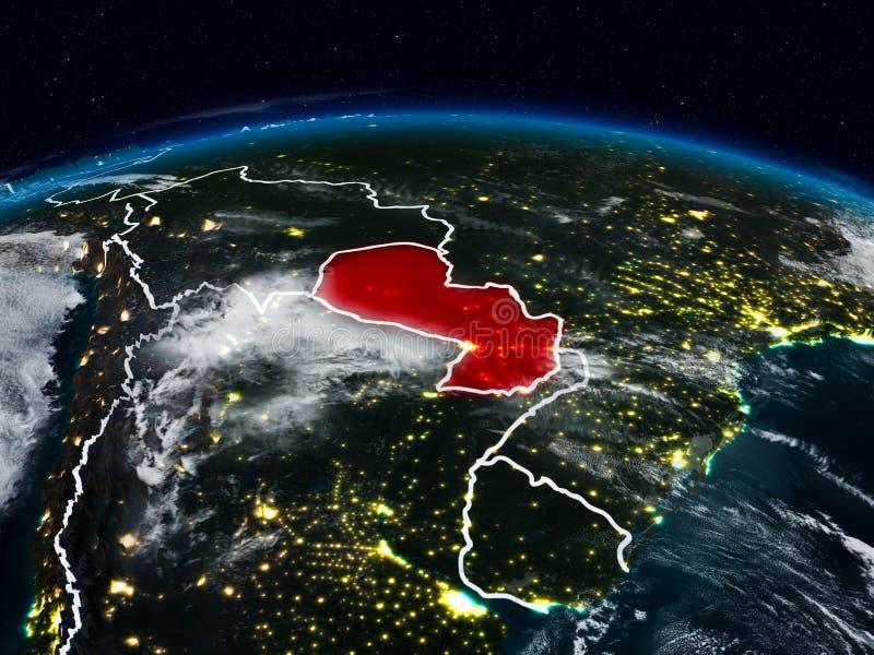 Парагвай на ноче стоковые фото