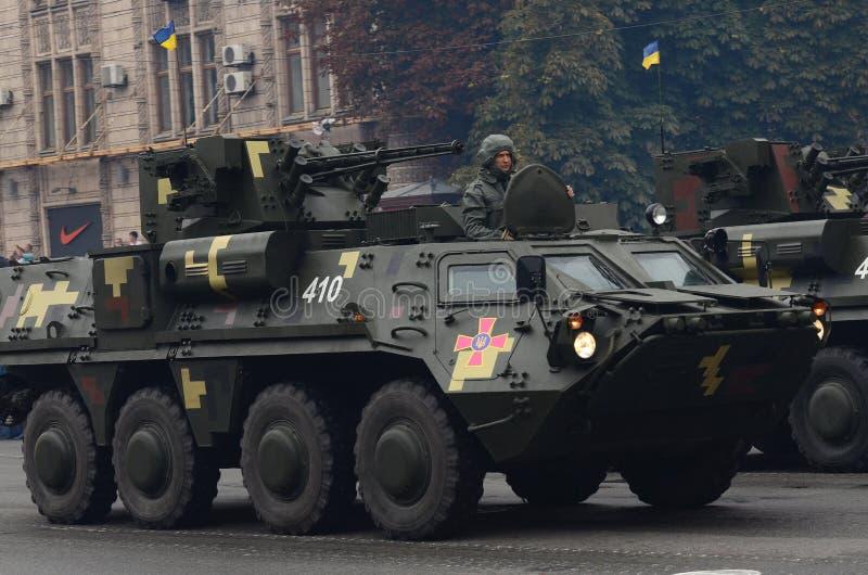 Парад в Киеве в день независимости Украины 24-ого августа 2016 стоковое изображение