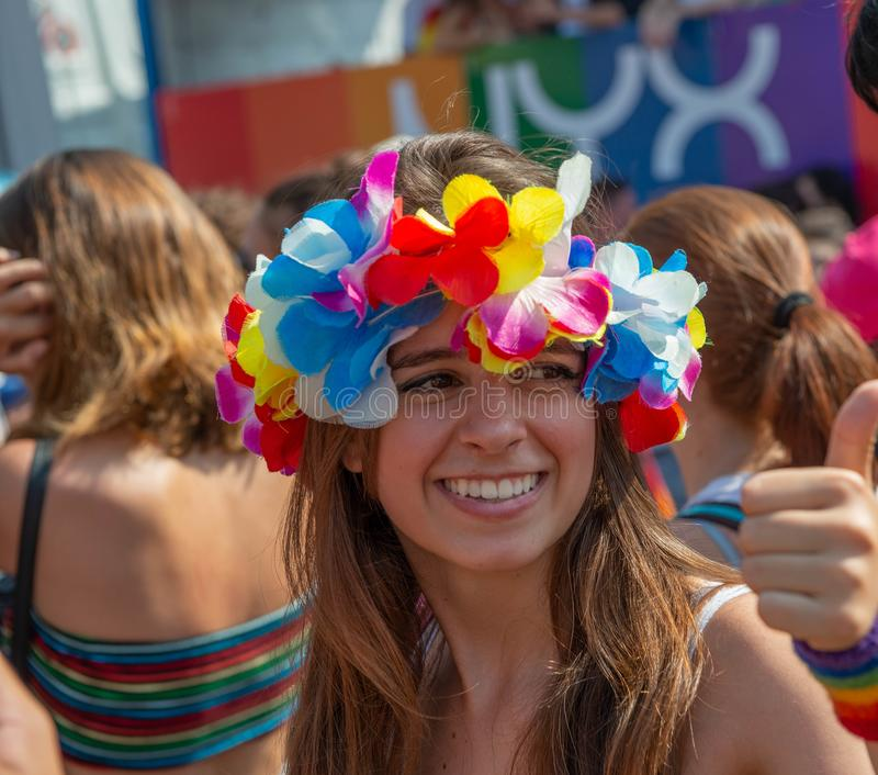 Парад гей-парада в Милане стоковое фото