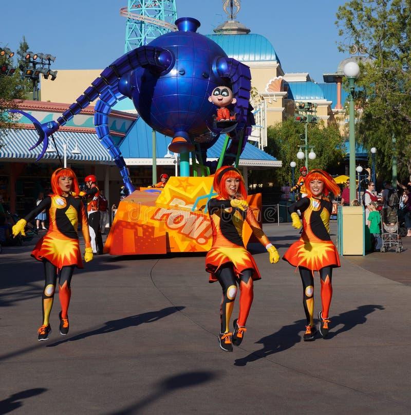 Парад Диснейленда Pixar Incredibles стоковая фотография rf