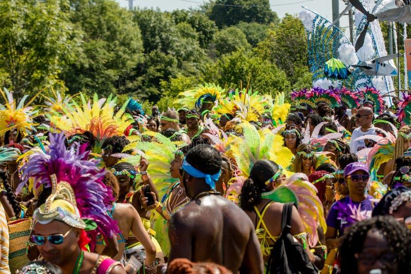 Парад карибской масленицы Торонто большой - Торонто, Канада - 3-ье августа 2019 стоковое изображение rf