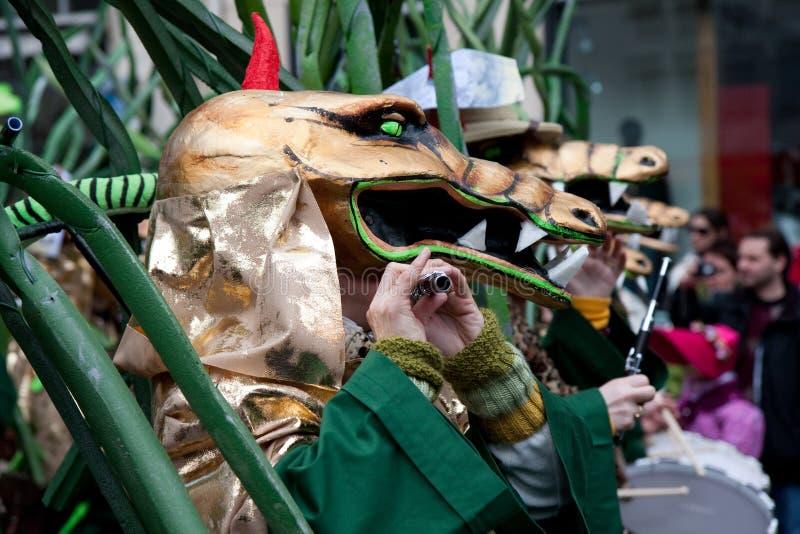 Парад, масленица в Базеле, Швейцарии стоковая фотография
