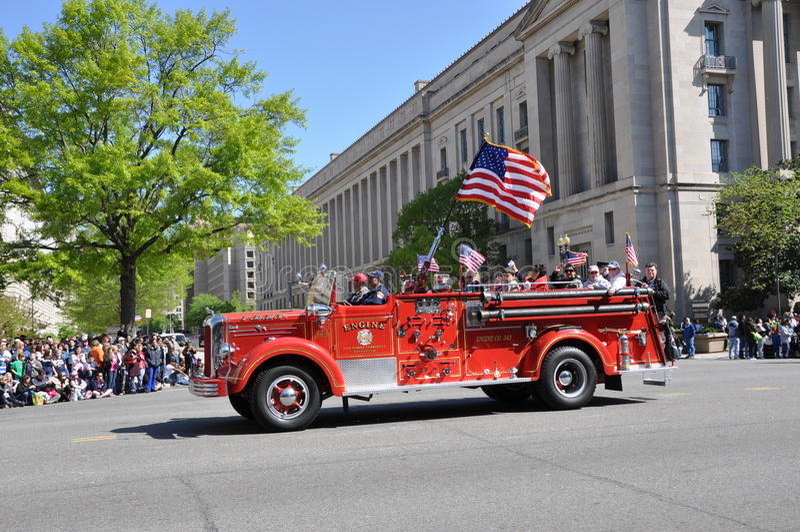 парад пожара двигателя стоковое фото