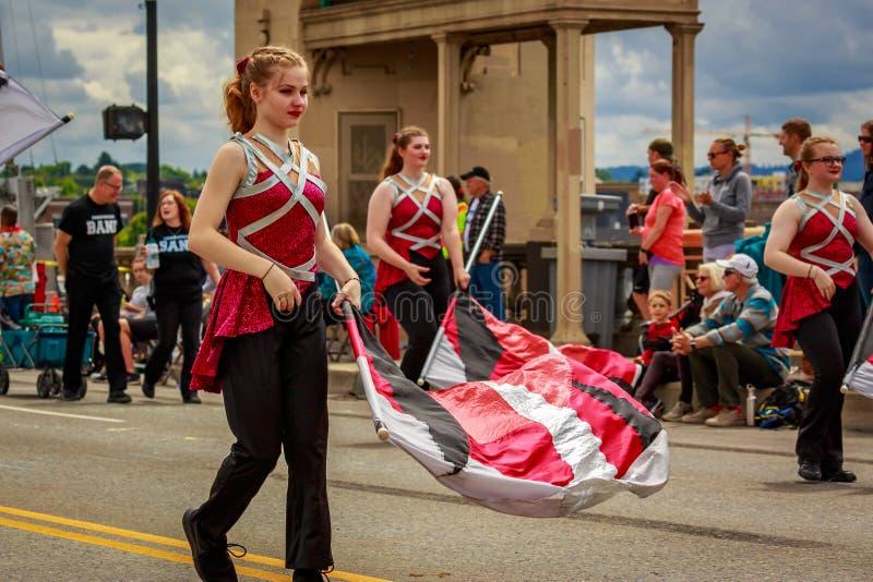 Парад 2019 Портленда большой флористический стоковое изображение rf
