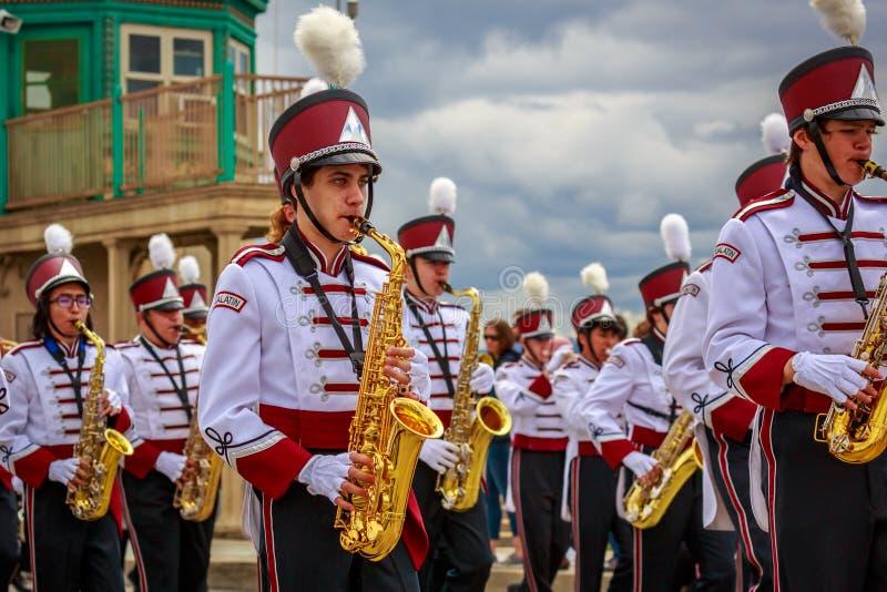 Парад 2019 Портленда большой флористический стоковые фотографии rf