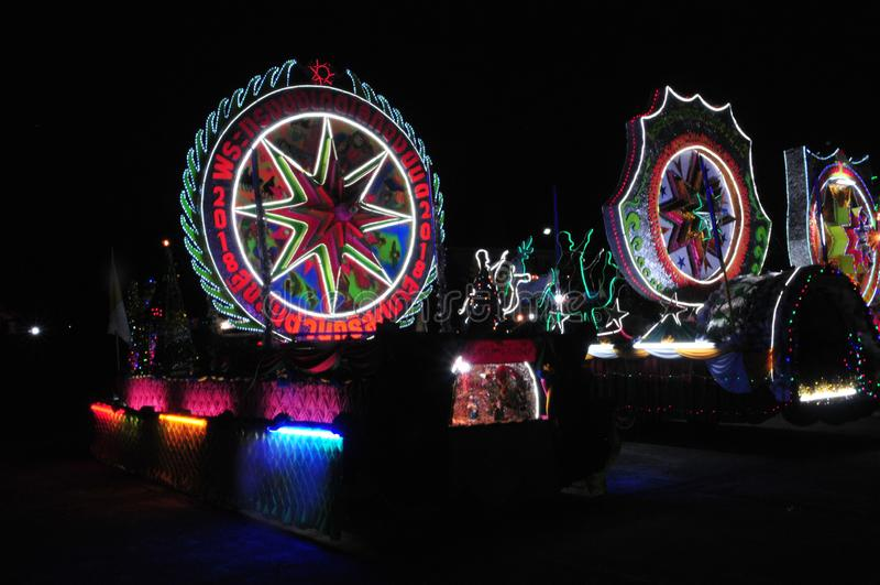 Парад рождества звезд стоковые изображения